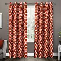 Orange Gates Blackout Curtain Panel Set, 96 in.