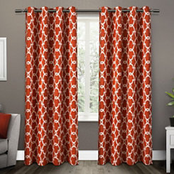 Orange Gates Blackout Curtain Panel Set, 96 in.
