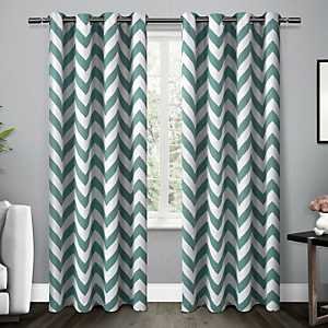 Teal Mars Blackout Curtain Panel Set, 84 in.