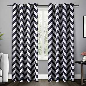 Indigo Mars Blackout Curtain Panel Set, 84 in.