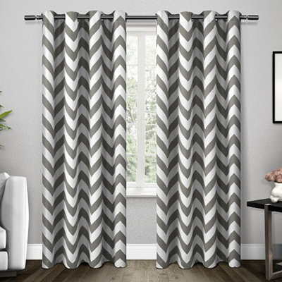 Gray Mars Blackout Curtain Panel Set, 96 in.
