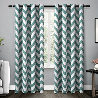 Teal Mars Blackout Curtain Panel Set, 96 in.