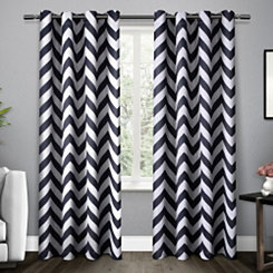 Indigo Mars Blackout Curtain Panel Set, 96 in.