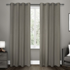 Gray Melrose Blackout Curtain Panel Set, 84 in.