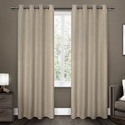 Linen Melrose Blackout Curtain Panel Set, 84 in.