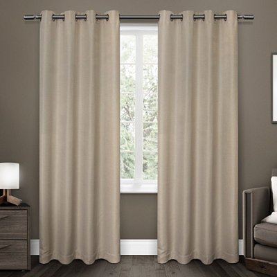 Linen Melrose Blackout Curtain Panel Set, 96 in.