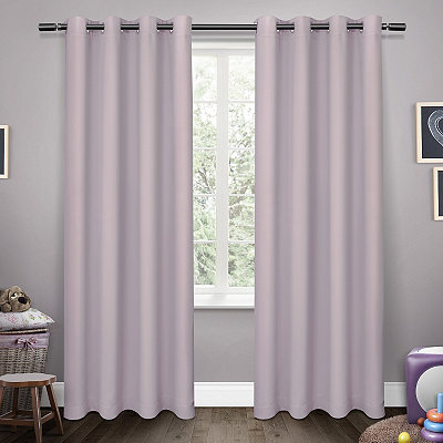 Purple Sateen Kids Curtain Panel Set, 84 in.