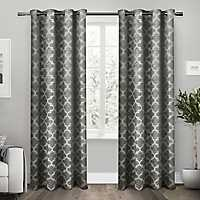 Black Cartago Blackout Curtain Panel Set, 108 in.