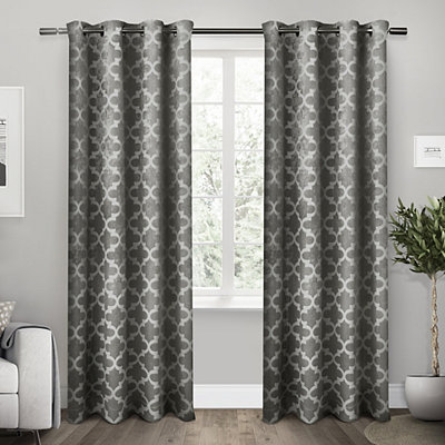 Black Cartago Blackout Curtain Panel Set, 108 in.
