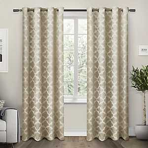 Tan Cartago Blackout Curtain Panel Set, 108 in.