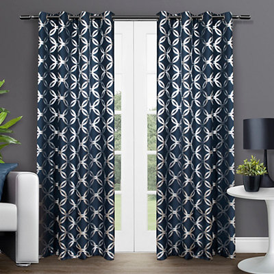 Indigo Modo Curtain Panel Set, 84 in.
