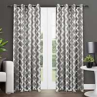 Black Pearl Modo Curtain Panel Set, 84 in.