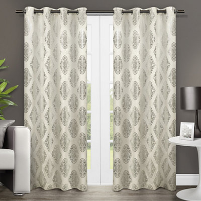 Off-White Augustus Curtain Panel Set, 84 in.