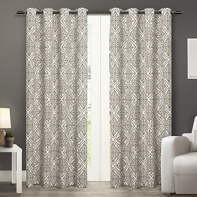 Cotton Off-White Sira Curtain Panel Set, 96 in.