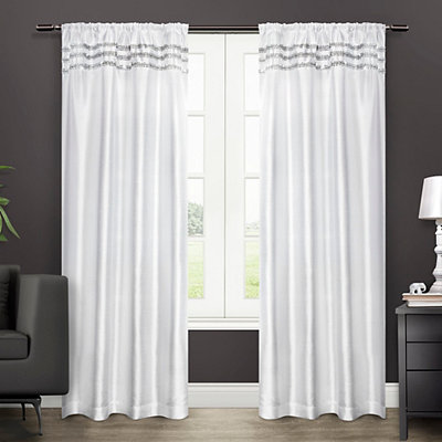 Winter Bling Curtain Panel Set, 96 in.