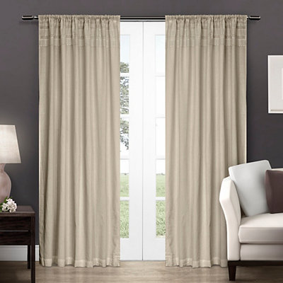 Bone Crochet Curtain Panel Set, 96 in.