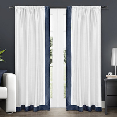 Navy Grammercy Curtain Panel Set, 84 in.