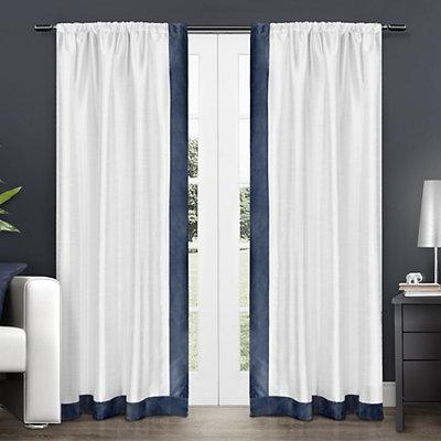 Navy Grammercy Curtain Panel Set, 84 in.