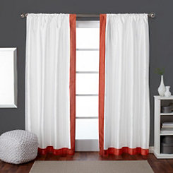 Orange Grammercy Curtain Panel Set, 84 in.
