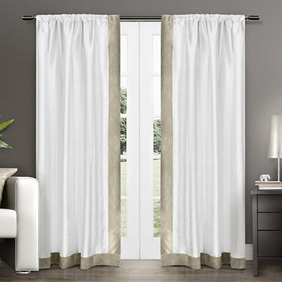 Taupe Grammercy Curtain Panel Set, 96 in.