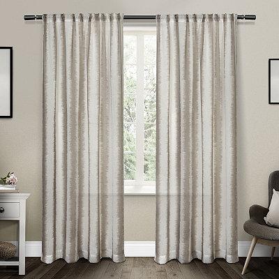 Tan Tokyo Belgian Linen Curtain Panel Set, 84 in.