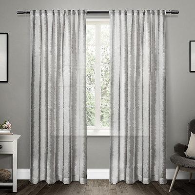 Gray Tokyo Belgian Linen Curtain Panel Set, 84 in.