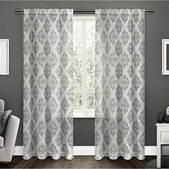 Gray Nagano Linen Curtain Panel Set, 84 in.