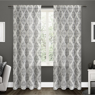 Gray Nagano Linen Curtain Panel Set, 96 in.