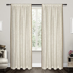 Baja Natural Linen Curtain Panel Set, 96 in.