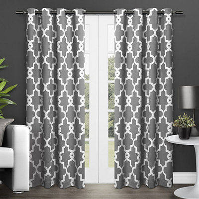 Gray Maxwell Sateen Curtain Panel Set, 108 in.