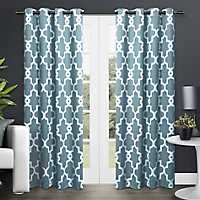 Teal Maxwell Sateen Curtain Panel Set, 108 in.