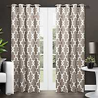 Taupe Maxwell Sateen Curtain Panel Set, 108 in.
