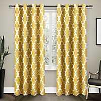 Yellow Maxwell Sateen Curtain Panel Set, 108 in.