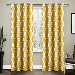 Yellow Maxwell Sateen Curtain Panel Set, 108 in.