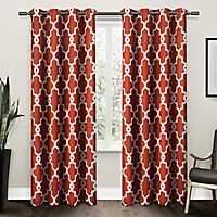 Orange Maxwell Sateen Curtain Panel Set, 108 in.