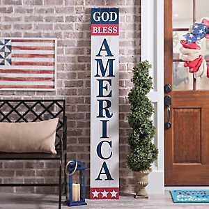 God Bless America Porch Board Plaque