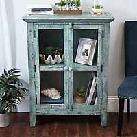 Rustic Shore Blue 2-Door Cabinet