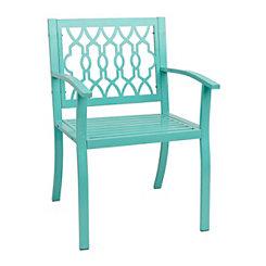 Turquoise Geometric Metal Chair