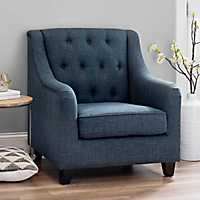 Navy Jayla Accent Chair