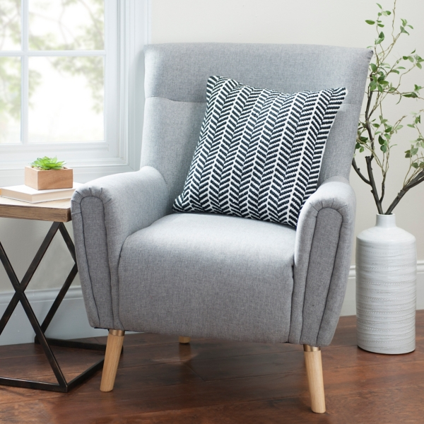 light gray maya accent chair sale