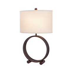 Oil Rubbed Bronze Circle Lamp