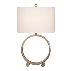 Champagne Metal Circle Lamp
