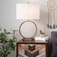 Champagne Metal Circle Lamp