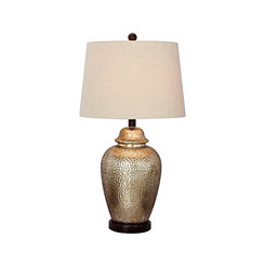 Tall Hammered Mercury Glass Table Lamp