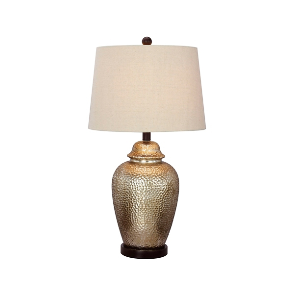 ... Tall Hammered Mercury Glass Table Lamp