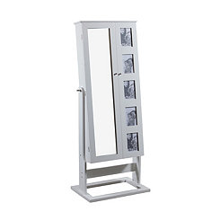White Cheval Photo Armoire Mirror