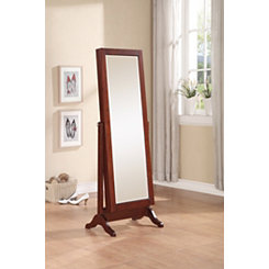 Cherry Sliding Jewelry Armoire Mirror