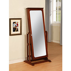 Marquis Cherry Cheval Jewelry Armoire Mirror
