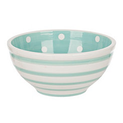 Blue Dot and Stripe Bowl