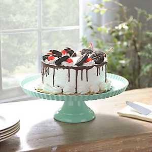 Green Ruffle Rim Cake Stand